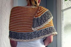 Free knitting pattern for wrap or shawl - muh-muhs a bulky wrap by Isabell Kraemer and more colorful shawl knitting patterns