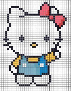 Cute Hello Kitty perler bead pattern