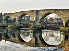 Stirling Bridge over the River Forth. The Battle of Stirling Bridge was a great victory won by William Wallace over the English on Sept. 11, 1297. [photo: neilalderney123, via Flickr]