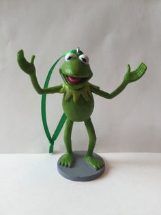 Muppets Christmas Tree Ornament  Kermit the Frog by ErinEtc