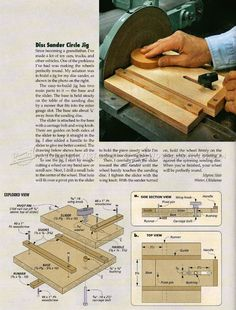 Disk Sander Circle Jig - Woodworking Tips and Techniques | WoodArchivist.com