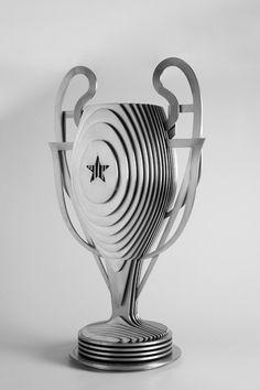Laser cut sliced trophy