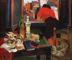 """Renato Guttuso (1911-1987)  """"Donna alla finestra, 1942"""""""
