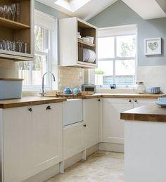 Pale blue and cream kitchen   housetohome.co.uk