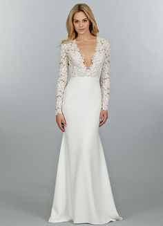 Fall or Winter wedding dress inspiration | Gown by Tara Keely