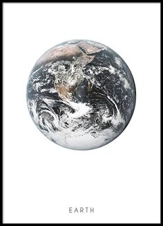 Poster with photo of the Earth