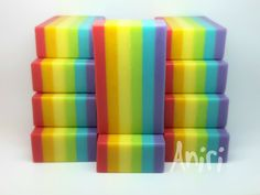 Rainbow - Cold-process Soap Wow, Wonderfull I wonder how is smell like? ❤
