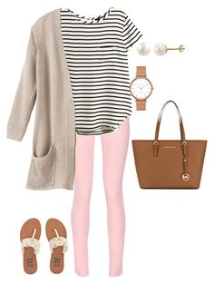 """""""Language class? More like self defense class"""" by livimay ❤ liked on Polyvore featuring Maison Kitsuné, H&M, PearLustre by Imperial, Skagen, Billabong and MICHAEL Michael Kors"""