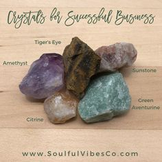 This crystal set is great for those who are looking to manifest success in their current or new business venture. Meditate with these crystals in your work space and carry them with you while working/planning. Click the link in our bio to learn more! Minerals And Gemstones, Rocks And Minerals, Crystals And Gemstones, Stones And Crystals, Gem Stones, Crystals For Manifestation, Meditation Crystals, Crystal Shop, Crystal Grid