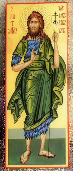 St John the Baptist, orthodox icon, hand painted, religious icon by Georgi Chimev