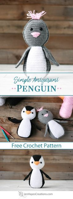 Simple Amigurumi Penguin | A Free Pattern by Jen Hayes Creations