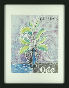 Guerlain Ode Vintage Advertisements, Impressionist, History, Illustration, Artwork, Poster, Pictures, Photos, Historia