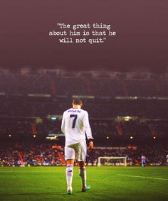 This guy right there Cristiano Ronaldo is my inspiration, in soccer and in life lessons. i want this in my life because my dream is to become a great soccer player like him. Football Quotes, Football Is Life, Soccer Quotes, Sport Quotes, Cr7 Quotes, Cristiano Ronaldo Quotes, Cristano Ronaldo, Cristiano Ronaldo Cr7, Ronaldo Football