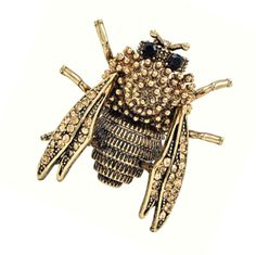 Love this Genevieve Gold Cicada Insect Brooch - Pearl + Creek    #brooch #accessories #insectbrooch #antiquegold #fashionjewelry