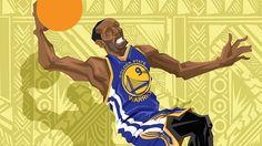 Andre Iguodala 'Starting Factor' Caricature Art