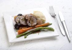 μοσχάρι γεμιστό με γραβιέρα Falafel, Cooking Recipes, Beef, Tableware, Kitchen, Food, Meat, Dinnerware, Cooking