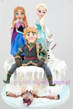 Frozen Cake / Tort Kraina Lodu - Cake by Edyta rogwojskiego.pl
