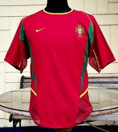 PORTUGAL 2002 WORLD CUP HOME QUALIFIER JERSEY NIKE SHIRT CAMISA CAMISETA MEDIUM Nike Shirt, T Shirt, 2002 World Cup, Vintage Jerseys, Football Jerseys, Portugal, Soccer, Medium, Classic