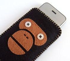 iPhone Case Felt Ape Brown Black by siiri on Etsy, $30.00