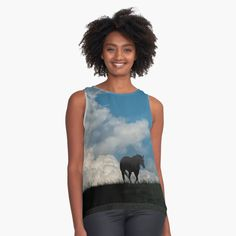 Gifts For Horse Lovers, Storm Clouds, Tank Man, Chiffon, Group, Tank Tops, Printed, Awesome, Accessories
