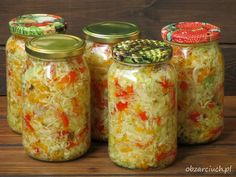 Surówka na zimę - Obżarciuch American Food, Chow Chow, Chutney, Pickles, Salad Recipes, Mason Jars, Grilling, Food And Drink, Treats