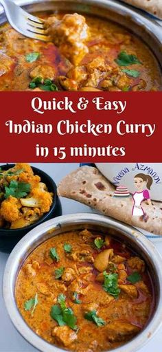 This quick and easy Indian Chicken Curry is a real treat. This simple, easy and effortless recipe is made with exotic Indian spices like cumin, coriander and garam masala with an added zing from tomato paste and sour cream. It gets its gorgeous color from Indian Cookbook, Easy Chicken Curry, Authentic Indian Chicken Curry, Chicken Curry Recipes, Chicken Masala Recipe Indian, Punjabi Chicken Curry, Chicken Masala Curry, South Indian Chicken Curry, Easy Chicken Tikka Masala