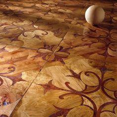 Solid parquet flooring / in wood / textured / wood inlaid ALSR005 IVASSALLETTI