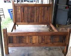 rustic headboard with wood and corrugated tin Queen Headboard