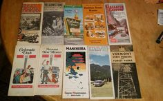Lot of 10 Vintage Road Maps US World Travel Oil Gas State Parks etc.