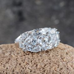 Espirito Santo Aquamarine Ring in Platinum Overlay Sterling Silver Nickel Free (Size 6) TGW 2.65 Cts.   Jewelry   Online Store   Liquidation Channel Site