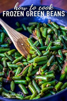 Learning how to cook frozen green beans makes having a veggie side dish for dinner easy! Simple and flavorful and done in minutes. Cooking Frozen Green Beans, Recipe For Frozen Green Beans, Freezing Green Beans, Frozen Vegetable Recipes, Veggie Meals, Easy Green Bean Recipes, Baked Green Beans, Roasted Frozen Green Beans, Crockpot