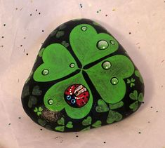 St Patrick's Day Collectible Hand Painted on Rock Very Lucky   eBay