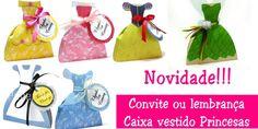 Milarts: Caixas Vestidos Princesas - Convite, lembrança ou ...