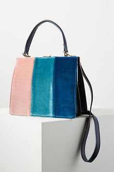 Anthropologie Colorblock Velvet Tote Bag (ad)  AnthroFave Anthropologie bb53a3b622218