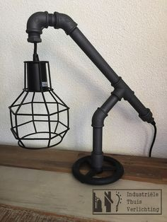Model 98 Pipe Lighting, Industrial Lighting, Industrial Style, Vintage Lanterns, Vintage Lamps, Pipe Furniture, Pipe Lamp, Steampunk Lamp, Boy Decor