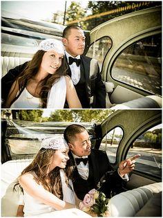 2 cv paris wedding tour  | © - Jacques Mateos of Magic Flight Studio via French Wedding Style