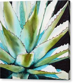 Ideas For Succulent Painting Canvases Originals Watercolor Succulents, Watercolor Cactus, Succulents Painting, Watercolor Paintings For Sale, Art Paintings, Fine Art Amerika, Cactus Art, Online Painting, Painting Inspiration