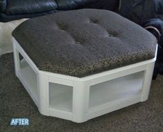 I will find you hexagon shaped coffee table, and then I'll have my own hexagon ottoman.