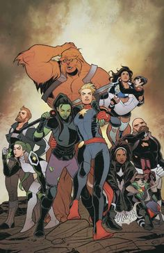 "Daily reading: Mighty Captain Marvel vol 1 - ""Band of Sisters: Part 1 of (Stohl, Bandini) - regular cover by Elizabeth Torque Marvel Comics, Cosmic Comics, Hq Marvel, Marvel Heroes, Comic Book Artists, Comic Books Art, Comic Art, Captain Marvel, Captain America"