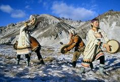 """''The drum is always a part of us, as we follow the path of our ancestors""""  Evenk drummers, Northeast Siberia (Northeast Asia). fb:Native American- Turanian Brotherhood: FIRST NATIONS First"""