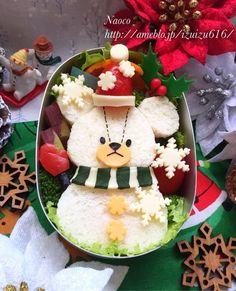 雪だるまジャッキーのサンドウィッチ【キャラ弁】 の画像|Naocoのキャラ弁日記