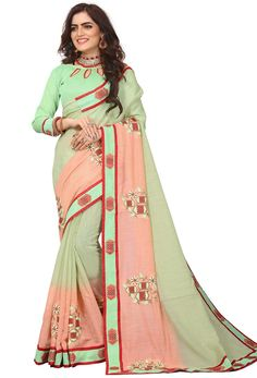 #green #salwar #kameez dupatta mostly liked by #fair #girls or #womens, #Pakistani #loves to wear green suits, #Nikvik.com is the best seller of green #suits and pakistani #dresses Designer Sarees Collection, Latest Designer Sarees, Saree Collection, Fancy Sarees, Party Wear Sarees, Cotton Saree, Cotton Silk, Work Sarees, Sari Fabric