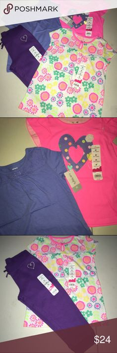 Lot of Girls Clothes 4T NWT Lot of Girls Clothes 4T NWT 3 tops and one pair of pants all new and super cute! Matching Sets