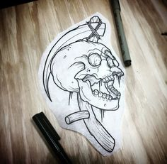 Marked for Life: Tattoos and Gangs Skeleton Tattoos, Skull Tattoos, Black Tattoos, Body Art Tattoos, Sleeve Tattoos, Tattoo Design Drawings, Skull Tattoo Design, Skull Design, Tattoo Sketches
