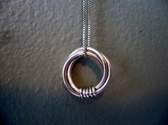 DIY infinity circle necklace