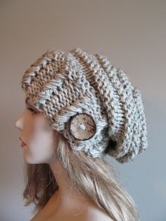 Slouchy Beanie Slouch Hats Oversized Baggy Beret by Lacywork
