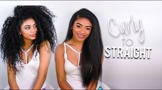 Curly to Straight: Length Check [Video]  Read the article here - http://blackhairinformation.com/video-gallery/curly-straight-length-check-video/