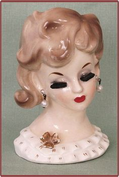 1950's Napco Ware Lady Head Vase Bouffant Hairdo from Cobayley Vintage on Ruby Lane  http://www.rubylane.com/item/506482-100-5851/1950s-Napco-Ware-Lady-Head