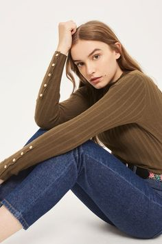 Knitted Funnel Neck Jumper