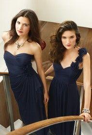navy blue bridesmaids #wedding